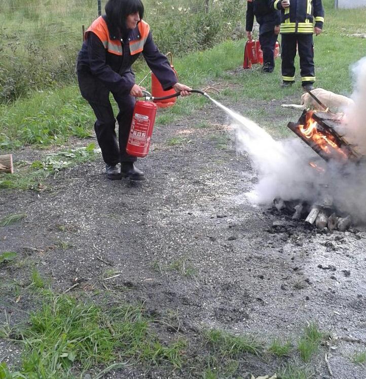 löschen des Feuers